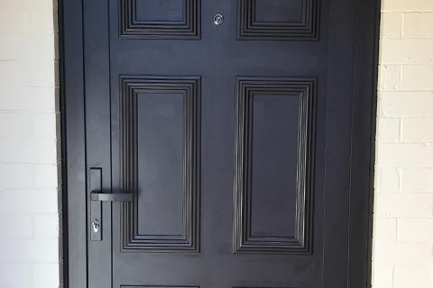 Classic door in black