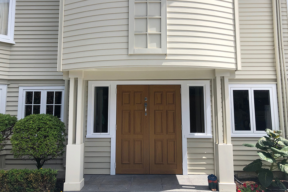 Classic wooden residential door