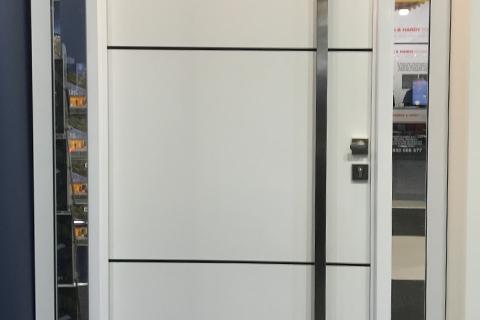 white plasma panel door
