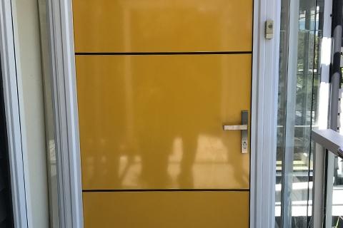 yellow plasma panel door