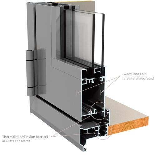 cross section of door frame