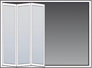 Bifold doors layout