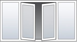 french doors layout